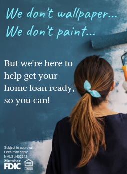 picture of a girl painting home equity loan ad